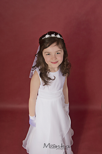 Communion Portrait at Monka Photography