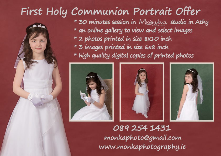First Holy Communion Session at Monka Photography in Athy