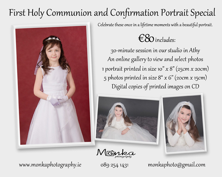Communion and Confirmation Photos by Monka Photography
